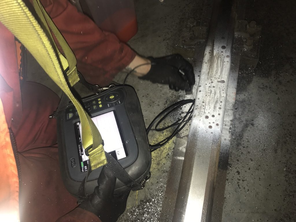 Ultrasonic inspection of rail joints - Port Engineering Services